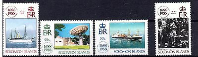 Solomon Islands (872) 1988 300th Anniversary of Lloyd's of London set Lightly mo