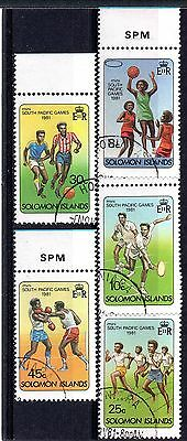 Solomon Islands (882) 1981 Mini South Pacific Games set Used Sg439-43