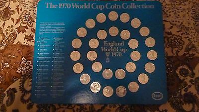 Esso 1970 World cup coin collection