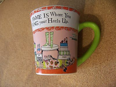HoME IS Where You HaNG your Heels Up. porcelain mug coffee cup woman's shoes