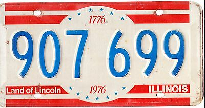 ������  Authentic Usa 1976 Illinois Bicentennial License Plate.  1776-1976