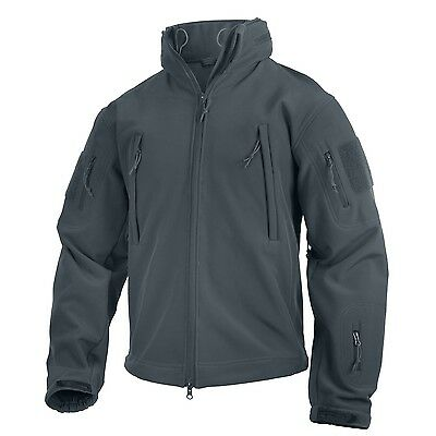 US Special SPEC OPS Army TACTICAL SOFT SHELL JACKET JACKE Gun Metal Grey  Large
