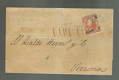 1874 Veracruz Mexico Letter Cover Local Use