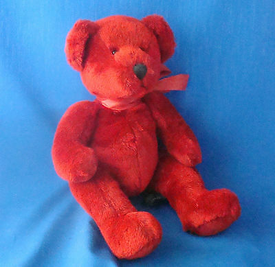 "Russ Berrie 13"" Ruby red jointed teddy bear Valentine's Day from the past"