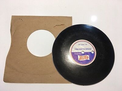 Original WWII Pepsi Cola Double Dot YOUR MAN IN THE SERVICE 45 RPM Record