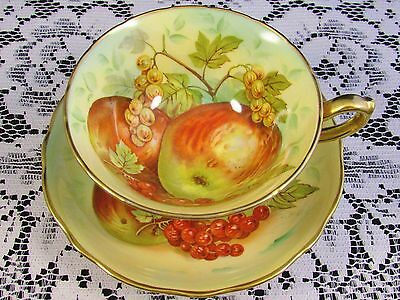 Hammersley Orchard Fruit Artist Signed Tea Cup And Saucer