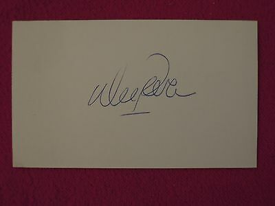 Wes Parker Los Angeles Dodgers Baseball Autograph on 3 x 5 Card