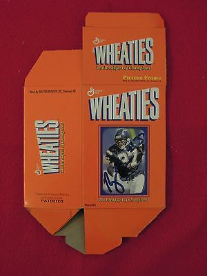 Rodney Harrison San Diego Chargers Football Autograph on Mini Wheaties Box