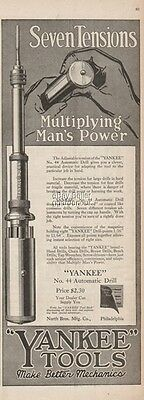 1918 Yankee #44 Automatic Drill North Bros. Philadelphia Vintage Tool Ad