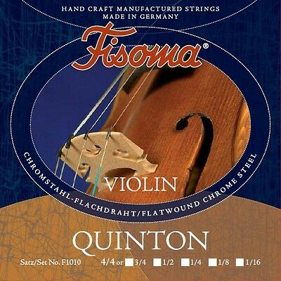 Fisoma QUINTON Violin Violon Saiten LOT en 6 tailles Violin Strings Lot