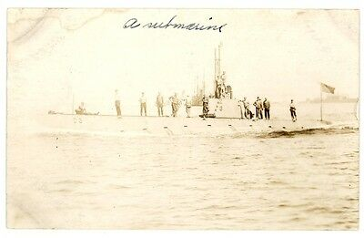 Real Photo Card: Submarine USS D-3 about 1915