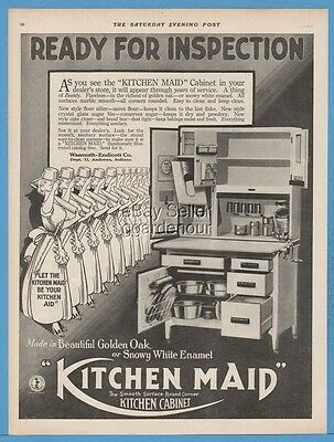 1918 Kitchen Maid Enamel Cabinet Wasmuth Endicott Co Andrews Indiana IN ad