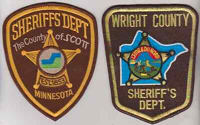 Scott County & Wright County MN Sheriff patches