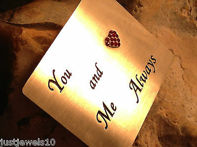 Silver Card Unusual Gifts for him mens her Wallet Valentines Love You keepsake