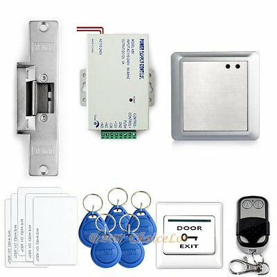 Door RFID Proximity Entry Lock Keypad Access Control System Kit +Remote Control