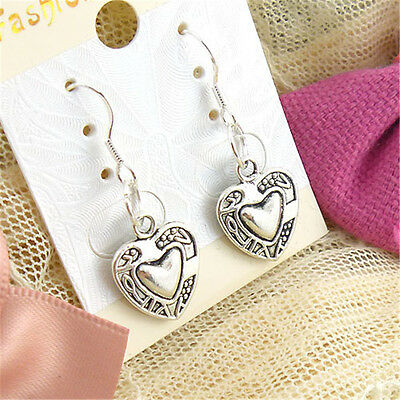 new Wholesale 2 Pair/Lot Charm Lady Fashion Jewellery Silver  Stud Earrings