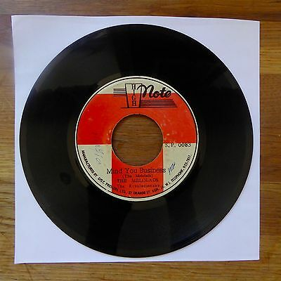 "THE MELOLADS Mind You Business / Business Dub HIGH NOTE Jamaican Press 7"" 45"
