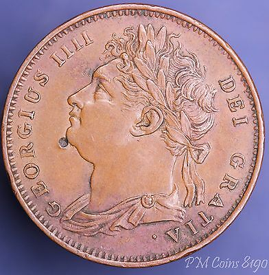1825 George IV farthing 1/4 penny 1/4d coin [8190]