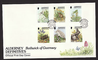 1994-98 Alderney, Flora and Fauna, Set of Five First Day Covers