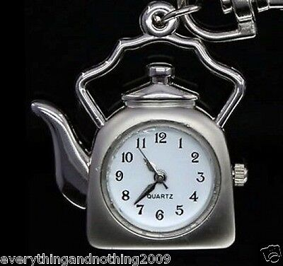 KETTLE Necklace Pocket Watch / Pendant  Key Chain & SPARKLING  chain