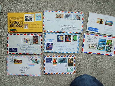 8 Air-Mail Covers From Around The world