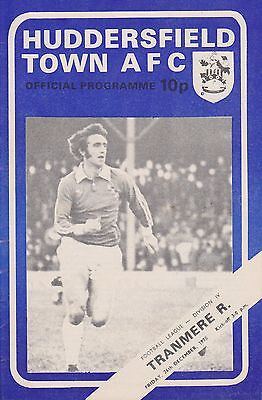 HUDDERSFIELD TOWN v TRANMERE ROVERS 75-76  LEAGUE MATCH