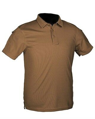 Tactical Quickdry Poloshirt dark coyote, Camping, Outdoor, Military, Sport -NEU-