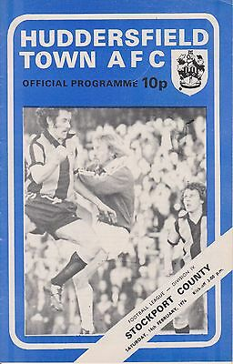HUDDERSFIELD TOWN v STOCKPORT COUNTY 75-76  LEAGUE MATCH
