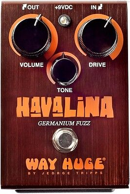 USED WAY HUGE WHE-403 HAVALINA GERMANIUM FUZZ PEDAL w/ FREE CABLE 0$ US S&H