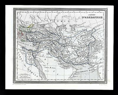 1835 Monin Fremin Map - Empire of Alexander Great - Ancient Greece Middle East