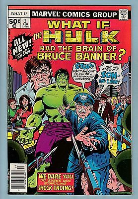 What If # 2 Vfn+ (8.5) The Hulk Had The Brain Of Bruce Banner?- High Grade Cents