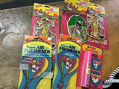 pink panther 6 vintage air freshener collection
