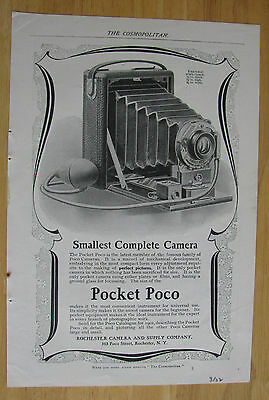 0588 Magazine Ad: Pocket Poco Smallest Complete Camera Rochester Camera NY 1902