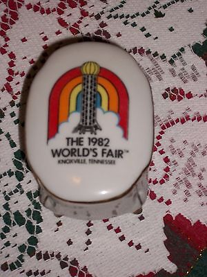1982 World's Fair footed porcelain trinket box - Knoxville, Tennessee