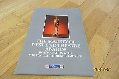 SWET Awards Brochure 1983 (Derek Jacobi, Judi Dench, Rylance)