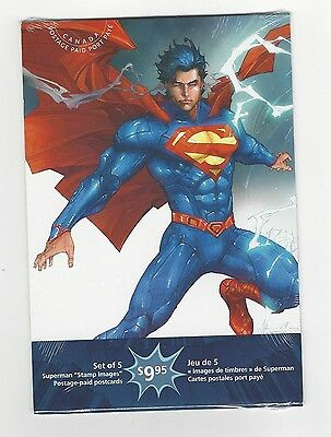 "**Canada Post ""Superman"" Stamp Images, Post Cards**Set of 5"