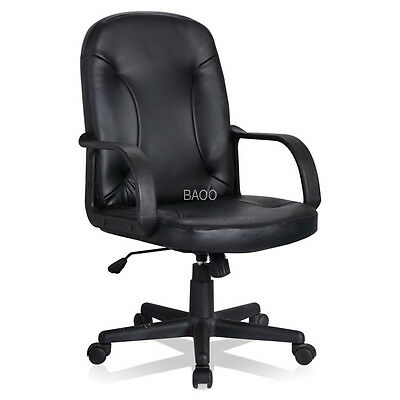 BAOO Faux Leather Executive Swivel Vintage Style Computer Desk Office Chair
