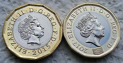 Two Royal Mint 12 Sided Pound £1 Coins - One Day Listing.