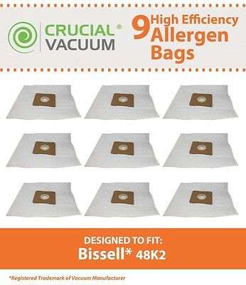 9 Bissell Clean Along 48K2 Cloth Vacuum Bags 67E2 203-7270 2037270