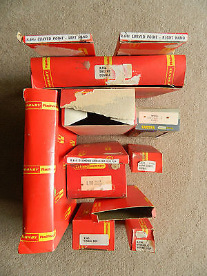 Dozen Original Vintage (mainly) Hornby Railways Empty Boxes only