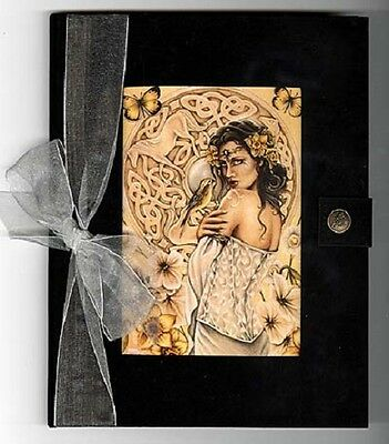 Journal Rhiannon Goddess Black Velvet with Blank Pages  Jessica Galbreth