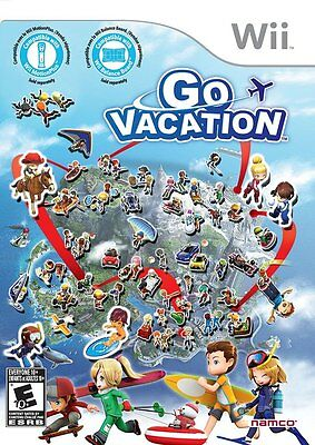 Go Vacation [Nintendo Wii, NTSC, Family Friendly Action Party Game] NEW