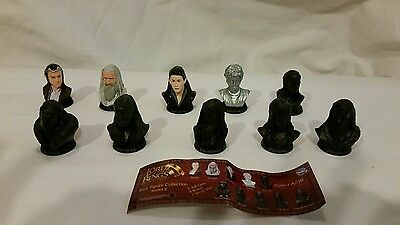 10 Lord of Rings LOTR Mini Bust Figure Collection Set # 2 by Tomy Yujin