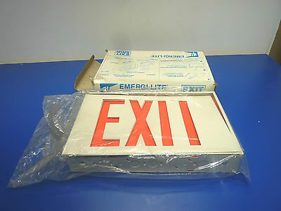 Emergi-Lite LWX14R,LED Exit Sign,One or Two Sided,120/277volt,White,NEW