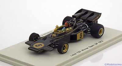 1:43 Spark Lotus 72D World Champion Fittipaldi 1972 with Decals