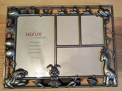 "Decor Essentials Baby Photo Frame 8 3/4"" Wide 6 1/2"" Tall Holds 4 Photos"