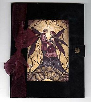 JOURNAL Springs Eternal Fairy  Black Velvet Blank Pages Jessica Galbreth