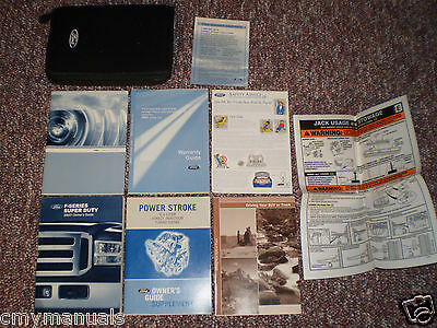 2007 Ford F250 350 450 550 Super Duty 6.0 Diesel Truck Owners Manual Books Case
