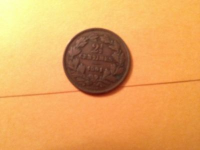KM21 1901 Luxembourg 2 1/2 Centimes Coin Rare