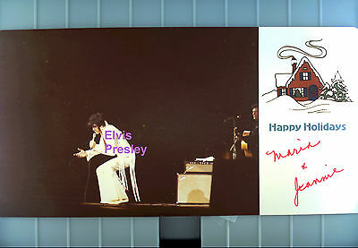 Elvis Presley Christmas Card Old Kodak Photo With Rounded Corners Candid